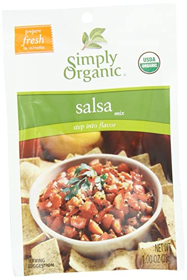 Simply Organic Organic Dip Mixes Salsa Mix Certified Organic, 1-Ounce Packets (Pack