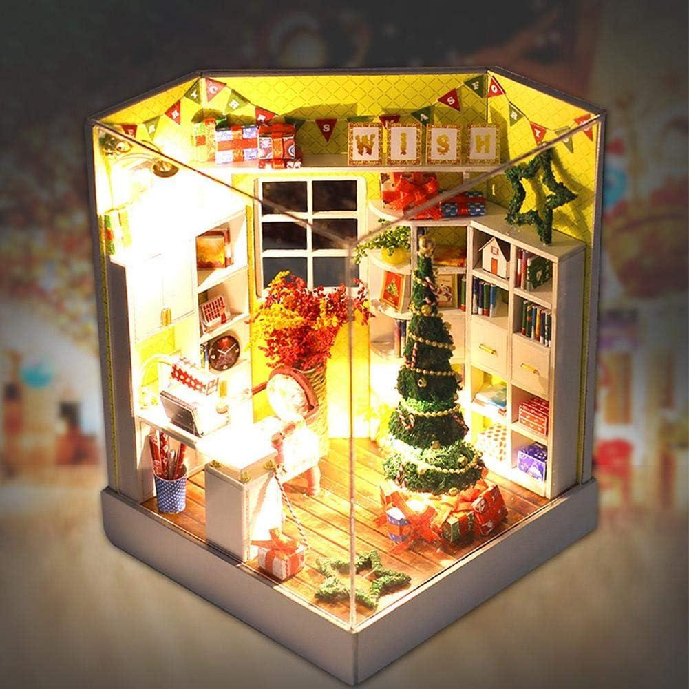 Elprico Dollhouse Kits Dollhouse Kit Miniature Dollhouse Kits, Dollhouse, for Home Decoration Office Decoration