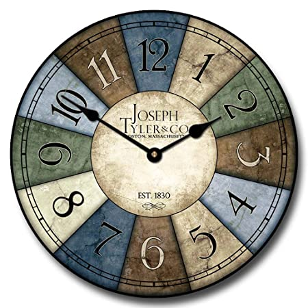 Le Belle Bleue Wall Clock, Available in 8 Sizes, Most Sizes Ship 2-3 Days,