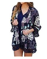 MeiLing® Women's Printed Chiffon Kimono Cover up Dress Beachwear US SIZE XS-M