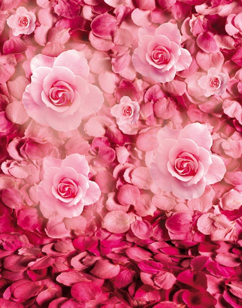 5 x 7ftピンク花ツリー写真背景computer-printedビニールBackdrops   B01JZO1SH0