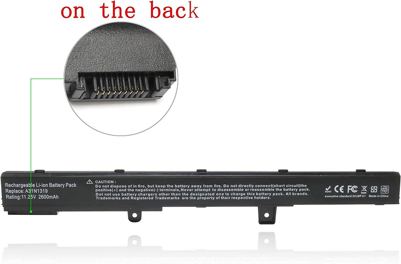 A31N1319 Laptop Battery for Asus X551M X551C X551 X551CA X551MA X551MAV X551MAV-RCLN06 D550M X451 X451C X451CA D550MA D550MA-DS01,Fits P/N: A31N1319 A41N1308 0B110-00250600 0B110-00250800