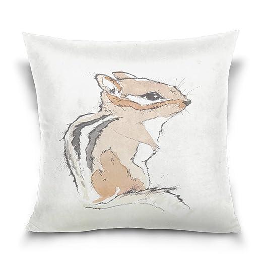 Sr. Weng hogar ardilla algodón manta almohada para sofá ...
