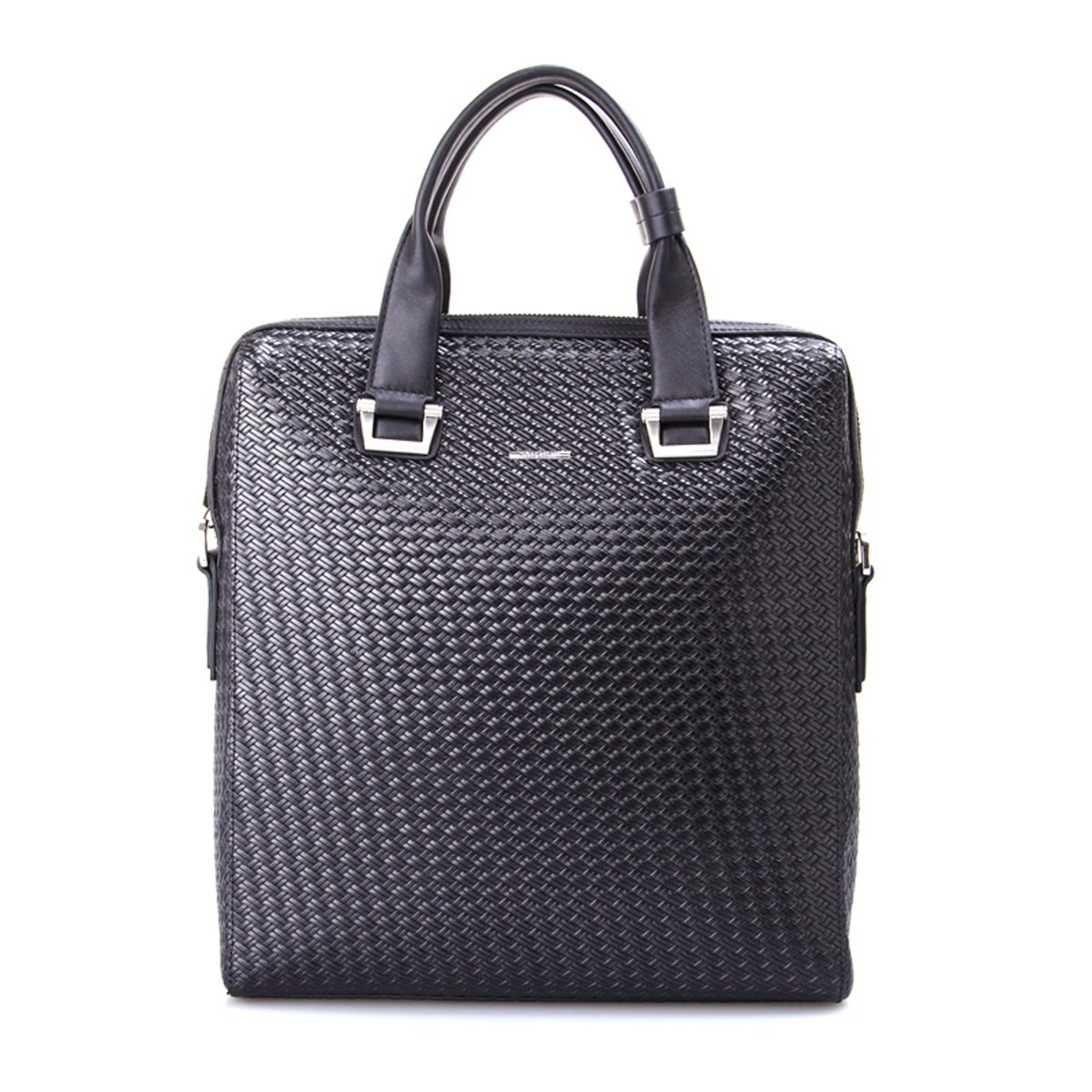 Haagendess Woven Deluxe Leather Business Tote Bag (Black)
