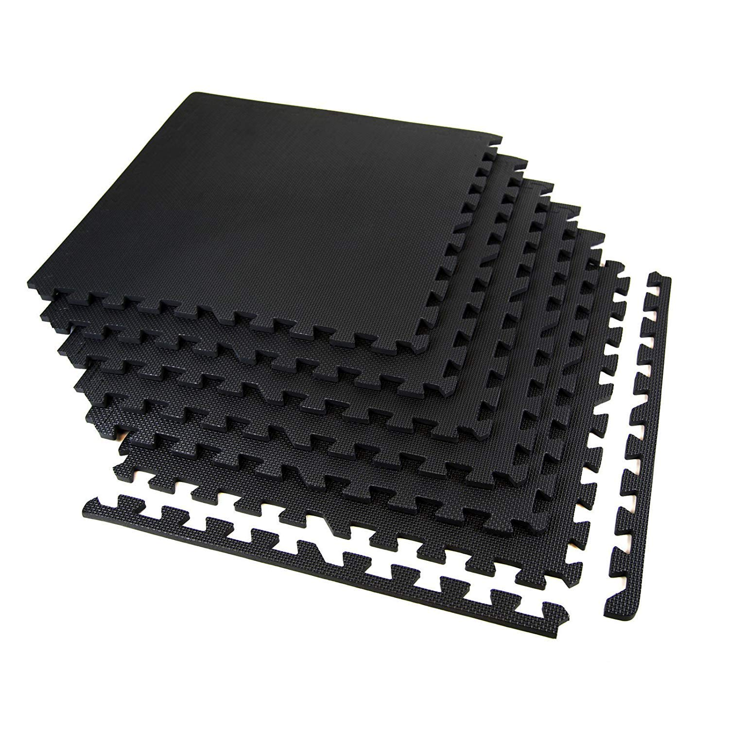 IncStores Eco Soft+ Foam Tiles (45 Tiles, Black) Interlocking Foam Flooring Mats with Removable Edges by IncStores (Image #3)