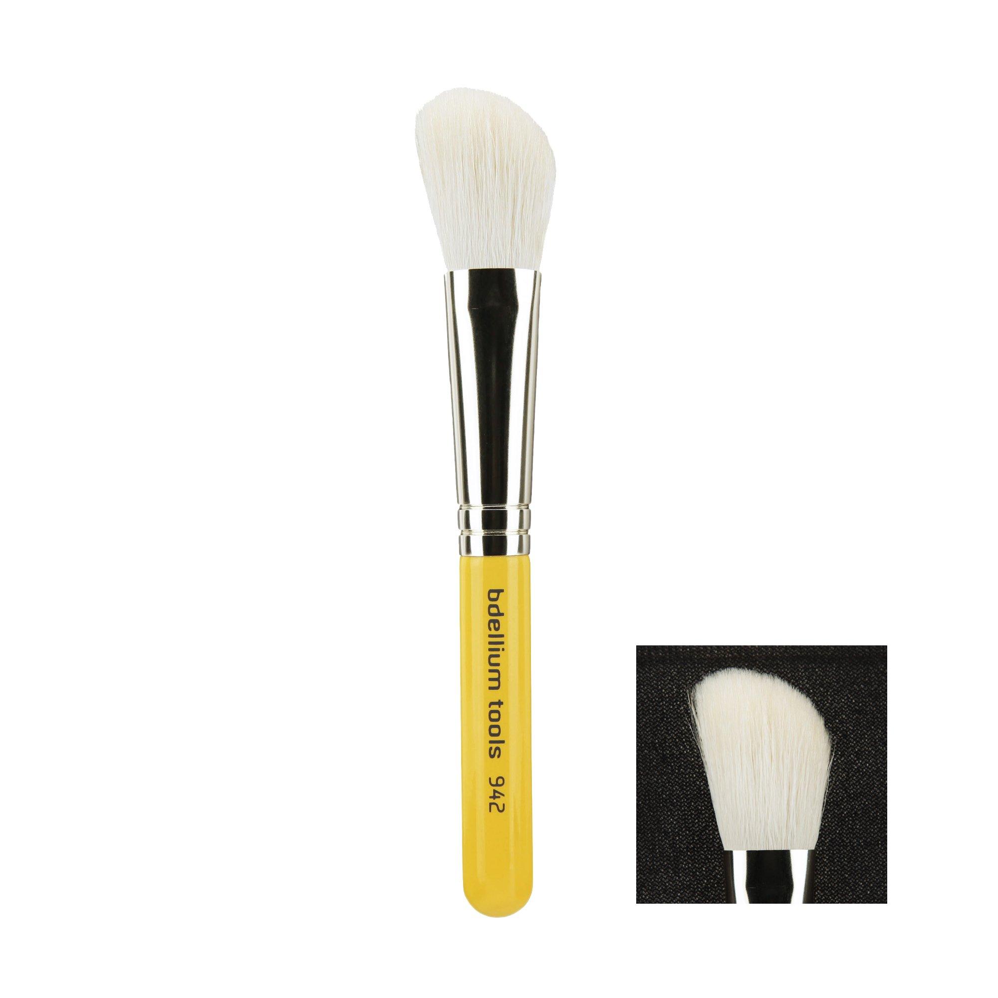 Bdellium Tools Travel Line Slanted Contour Brush, Yellow