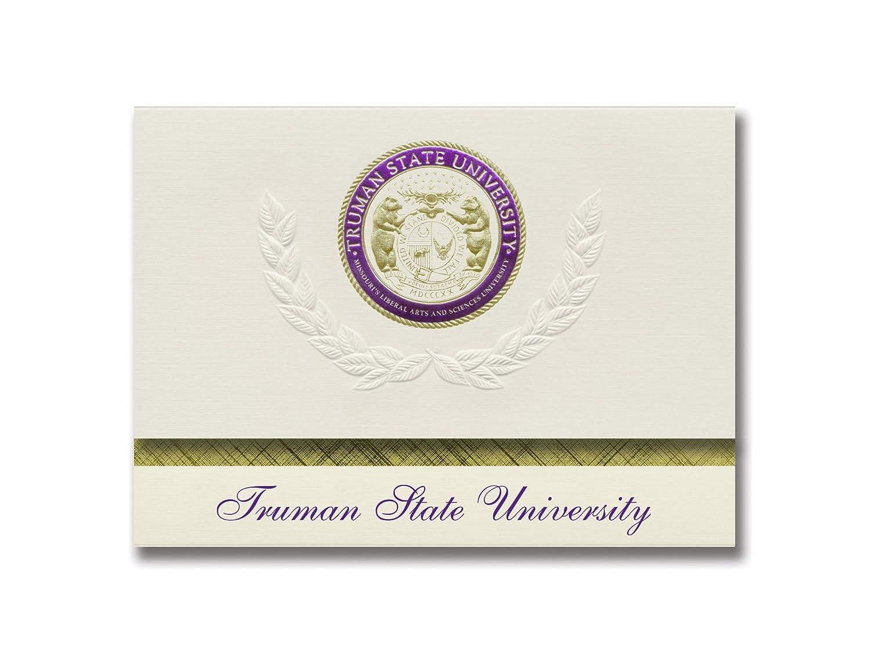 Signature Ankündigungen Truman Staatliche Universität Graduation Ankündigungen, platin Stil, Elite Pack 20 mit Truman State u. Dichtung Folie B0793LFLYL | Shop Düsseldorf