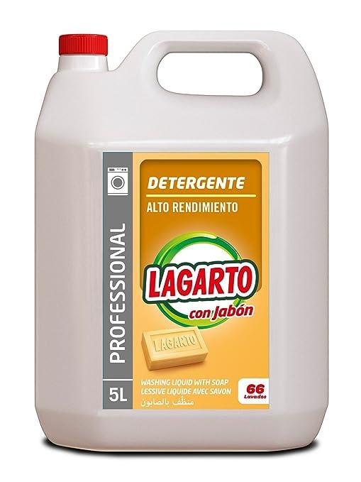 Lagarto Detergente Liquido Lavadora Profesional - 5000 ml: Amazon ...