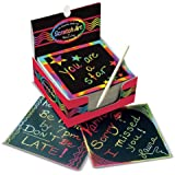 Melissa and Doug Mini Scratch Art Notes - Rainbow, Multi Color (Pack of 125)