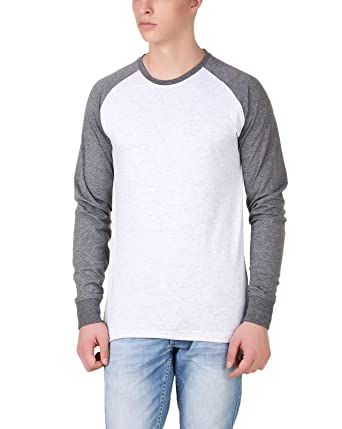 1c8897c70a51 Aventura Outfitters Round Neck Raglan Sleeves Anthra/White T-Shirt - S  (AOTE80