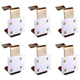 FineInno Stainless Steel Table Skirting Clips Table Cover Clamps Endurable Metal Tablecloth Holders Anti Wind for Table