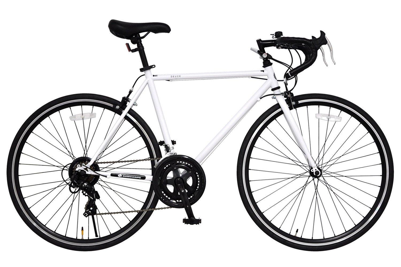 ANIMATO(アニマート) ロードバイク DEUCE (デュース) 700C ホワイト シマノ14段変速 A-14 B01M1R6TUG