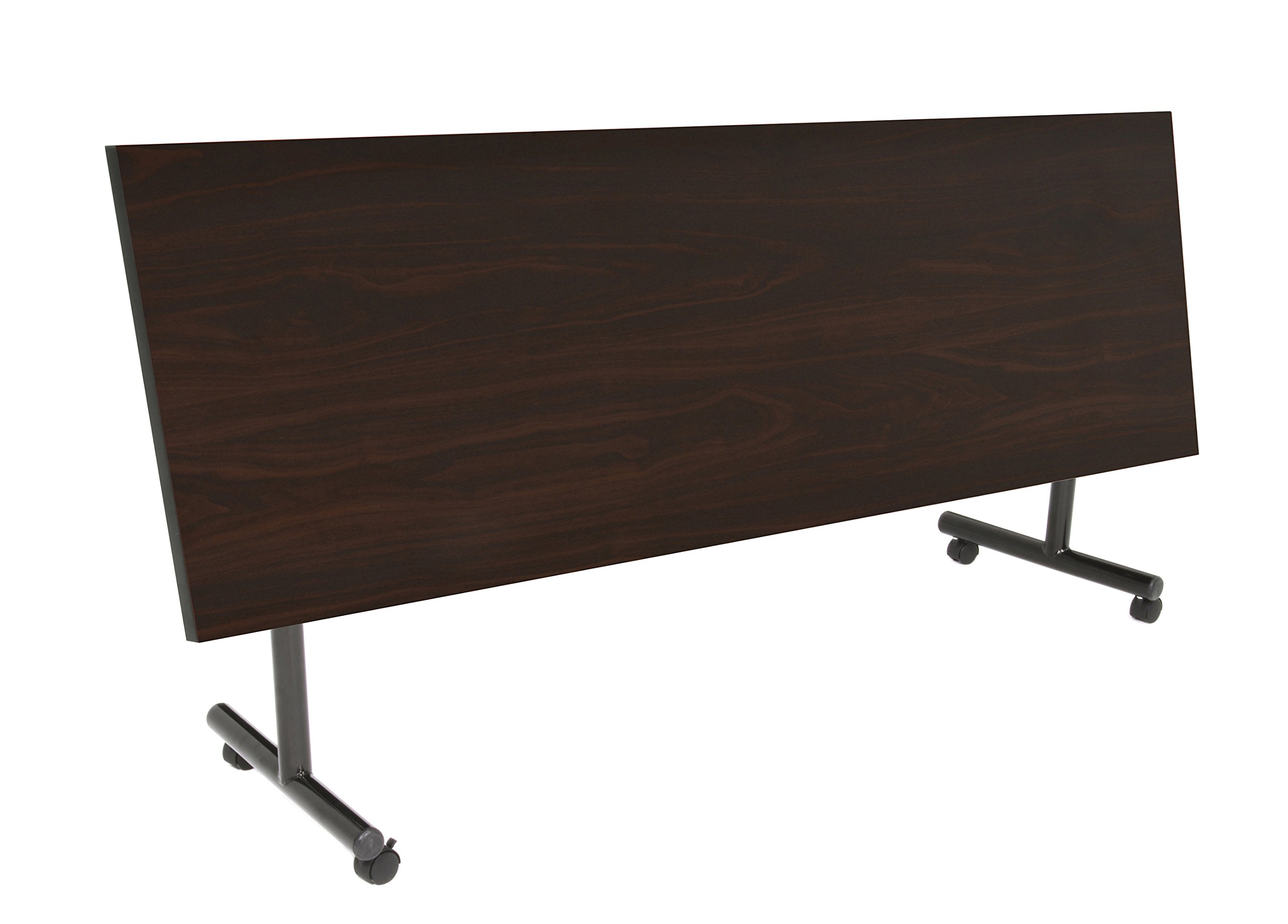 Kobe 84'' Flip Top Mobile Training Table- Mocha Walnut by Regency Seating (Image #2)
