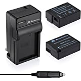Powerextra 2 Pack Battery and Charger for Panasonic DMW-BLC12, DMW-BLC12E, DMW-BLC12PP and Panasonic Lumix DMC-G85, DMC-FZ200, DMC-FZ1000, DMC-G5, DMC-G6, DMC-G7, DMC-GH2, DMC-GX8, DMC-FZ300K