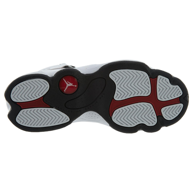 Nike PS Boys Jordan 6 Rings Basketball Shoes White//Black-Gym Red 1.5Y