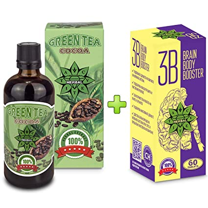 Cvetita Herbal,Té verde con cacao 100 ml + Brain Body ...