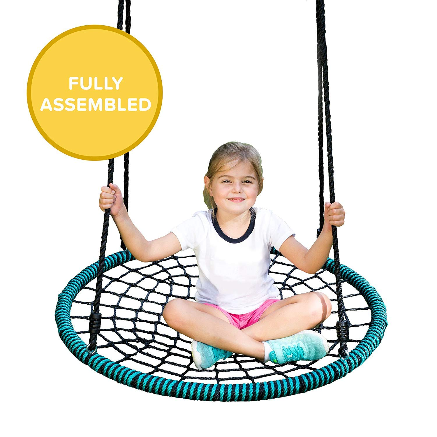 Play Platoon Spider Web Tree Swing - 40 Inch Diameter, Fully Assembled, 600 lb Weight Capacity, Easy to Install by Play Platoon