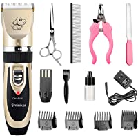 Sminiker Professional Rechargeable Cordless Dogs and Cats Grooming Clippers - Professional Pet…