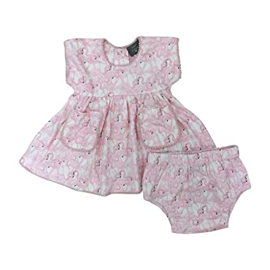 479099a5e23 Kate Quinn Organics Baby Girls Pocket Tunic with Bloomers, 0-3M (Flamingos)
