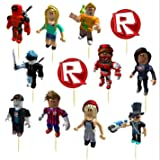 12pc ROBLOX Cup Cake Cupcake Toppers Birthday Party Latex Balloons balloon