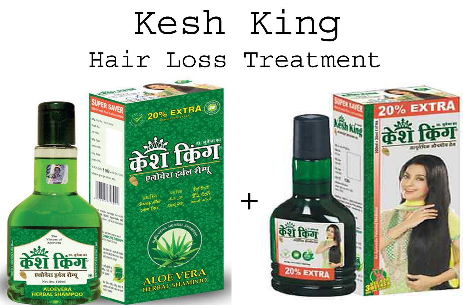 20 PACK KESH KING Herbal HAIR LOSS Complete Treatment (OIL+ SHAMPOO)