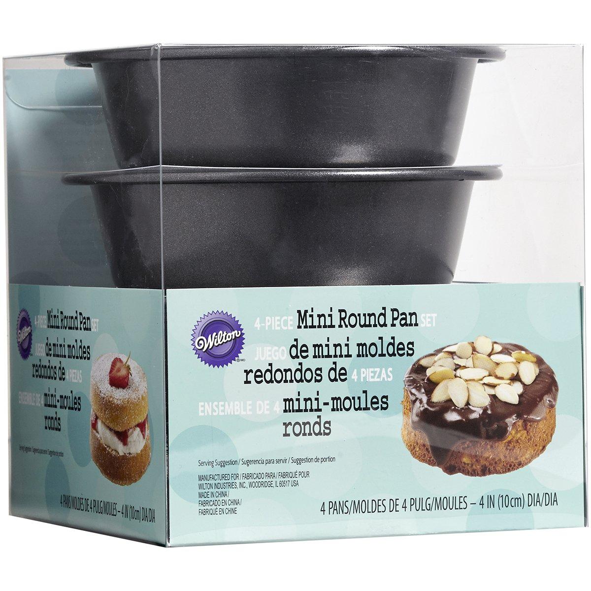 Mini Cake Pans 4/Pkg, Round 4''