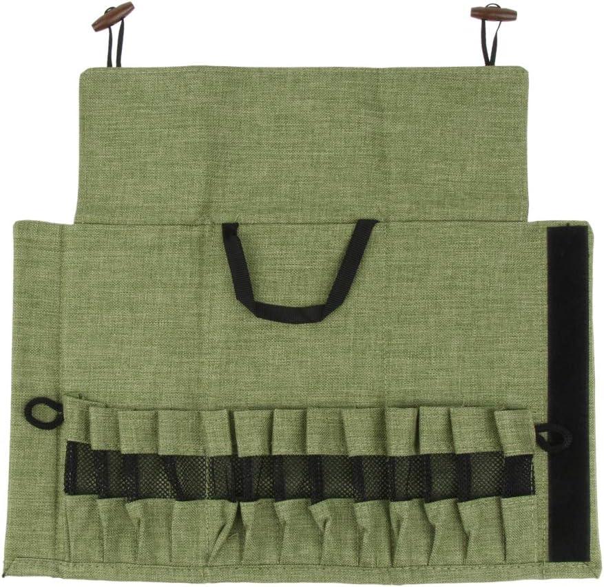 Armeegr/ün Toygogo Leer Besteckbeutel Besteck Halter Geschirr Aufbewahrungstasche Bestecktasche mit 13 x Taschen f/ür Im Freien
