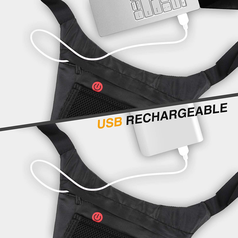 shenkey Chaleco de señal de Giro LED, Chaleco Reflectante LED con ...