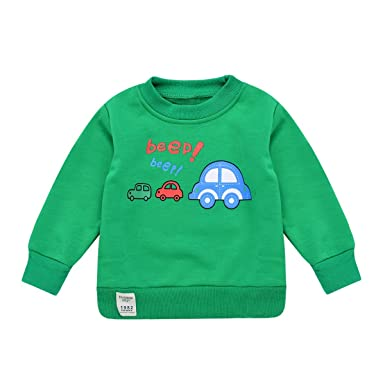 ae2923959 Amazon.com  Toddler Baby Boy Sweatshirt Little Kids Fleece Pullover ...