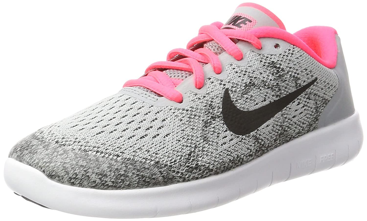 d25d56b2a59a1 Nike Kids Free Rn 2017 (GS) Wolf Grey Black Racer Pink Running Shoe 6 Kids  US  Buy Online at Low Prices in India - Amazon.in