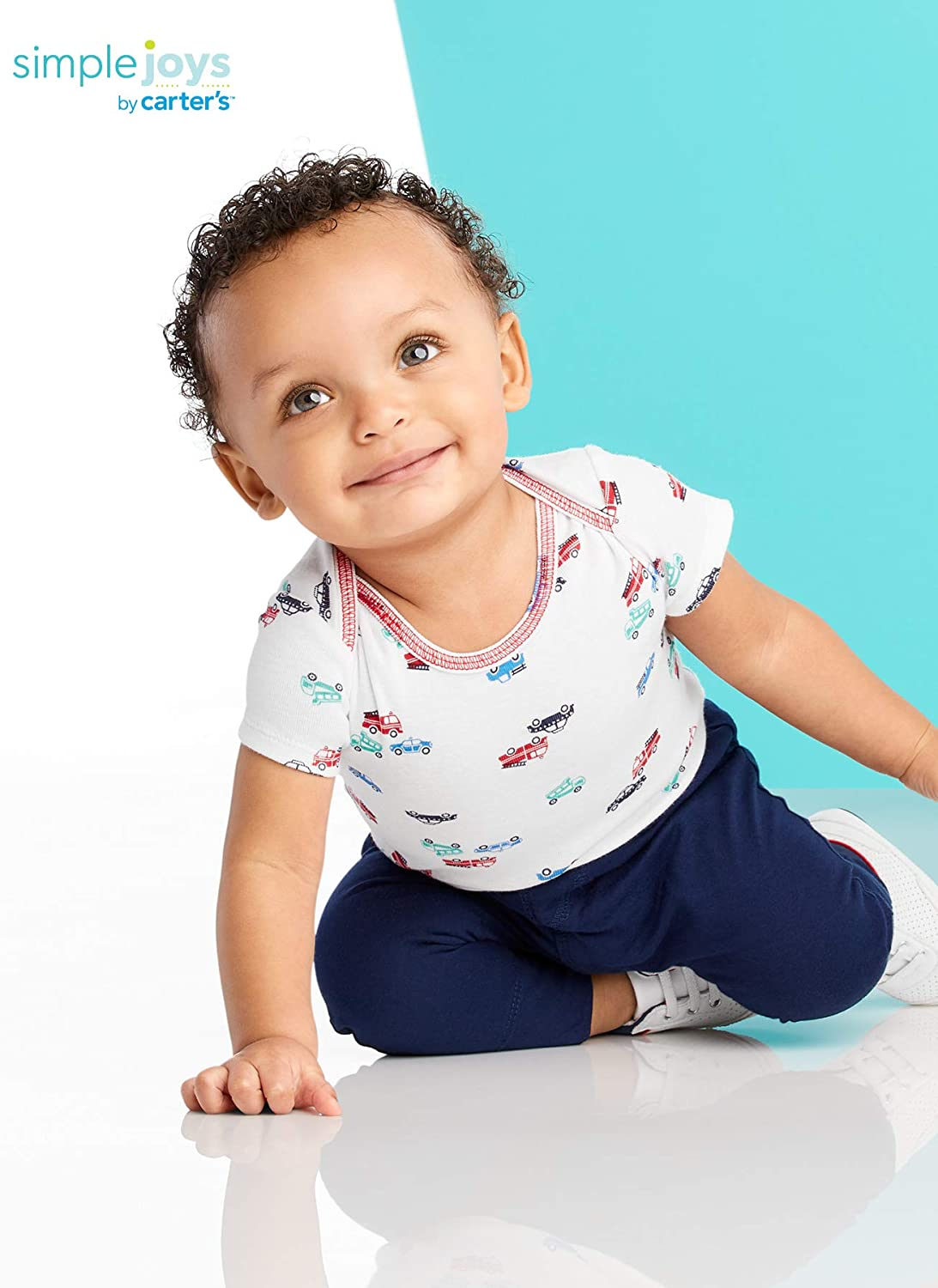 confezione da 6 Simple Joys by Carters Baby Body a maniche corte