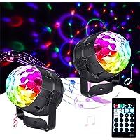 Luces Discoteca 15Colores Hosome Bola de Discoteca DJ Activada por Sonido 4M Cable USB 8 Niveles de Brillo, Control…