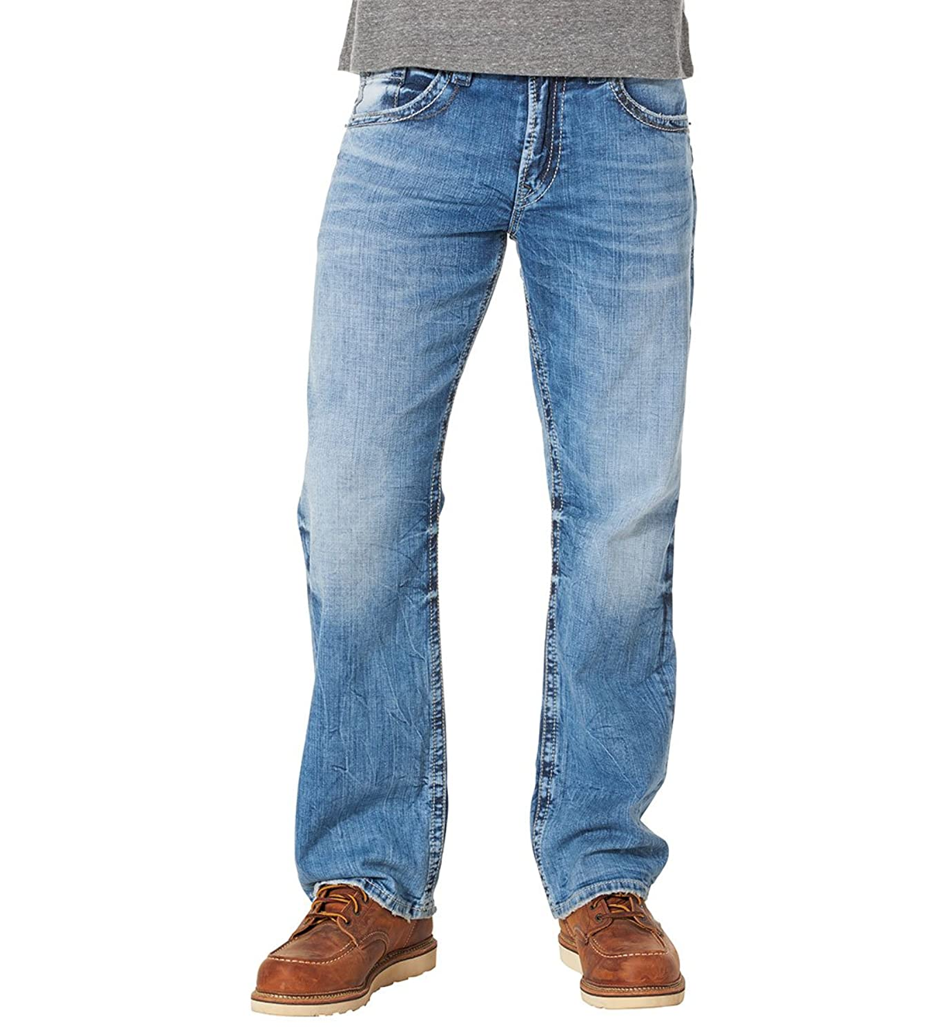 Silver Jeans Men's Jeans Co Gordie Loose Fit Straight Leg Light ...