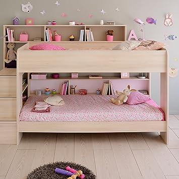 Parisot Bibop Kids Bunk Bed In Acacia With Reversible Panels Amazon