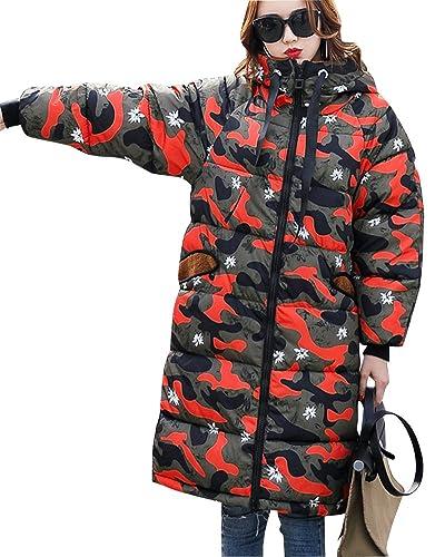 Mujer Casual Chaqueta De Manga Larga Larga Abrigo Espesar Cálido Abrigo Con Capucha