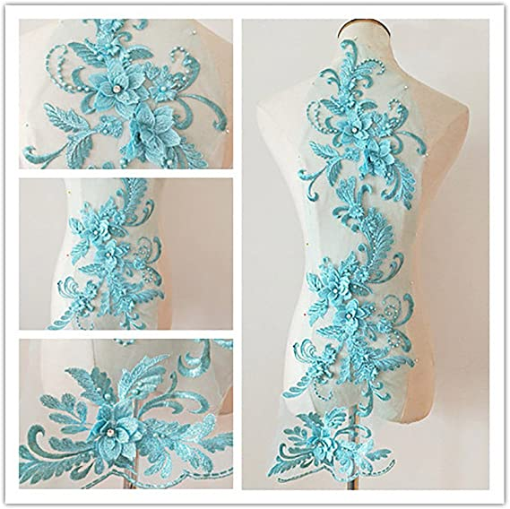 Ballet Couture Gowns F15NEW SAPPHIRE Blue /& SILVER 3D Applique Beaded and Embroidered for Lyrical Dance