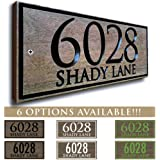 amazon com script address sign spelled out cursive house numbers