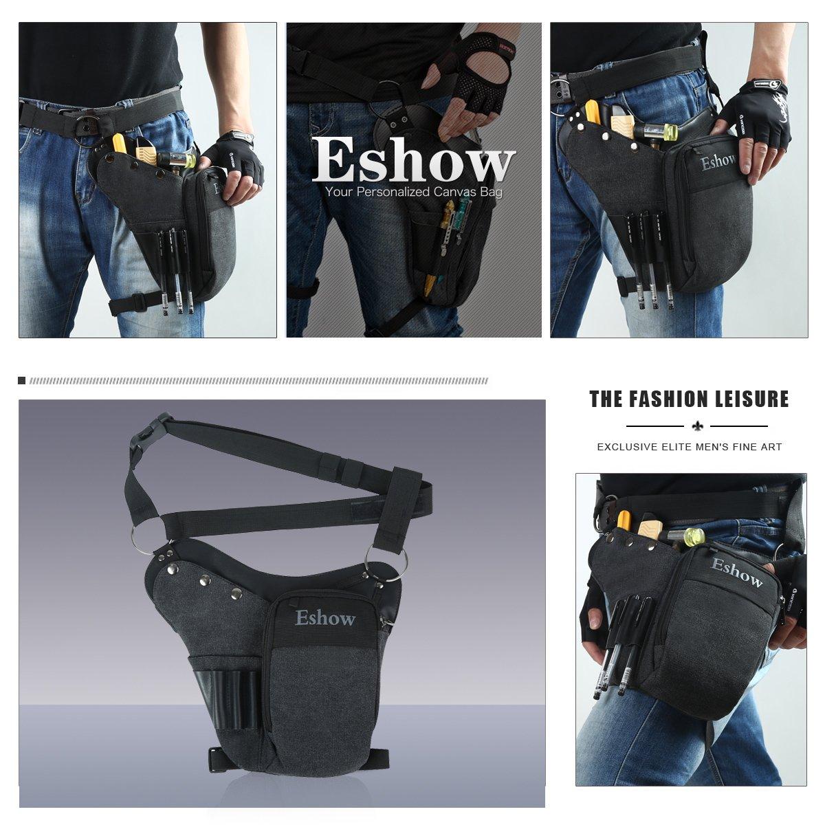 ac3352dc033 Eshow Sac de Jambe pour outils Sac à outils tactique Trousse à Outils  électrotechnique porte-outil Accessoire de ceinture pour Bricolage   électricien ...