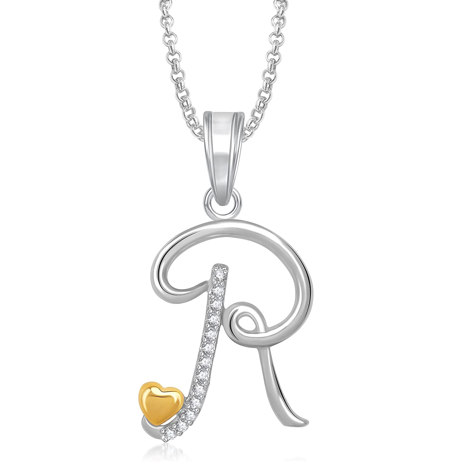 pendant alphabet diamond solid initial necklace armenian r gold rrg rose