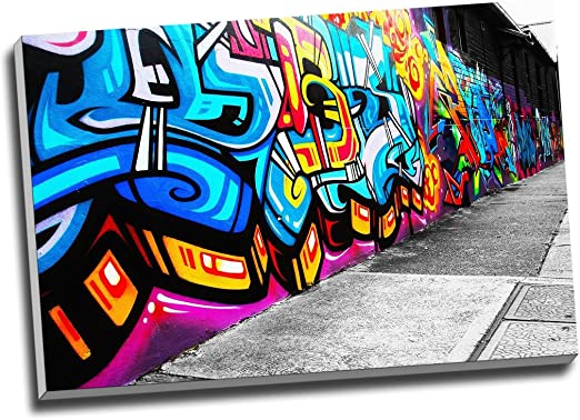 A1 SIZE canvas  PRINT FOR YOUR FRAME Graffiti Street Art Wall Decor painting