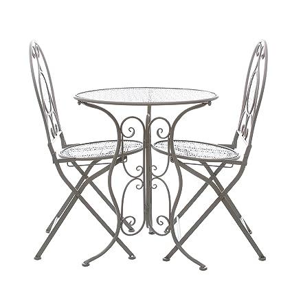 Sedie Da Esterno In Ferro.Set Tavolo E 2 Sedie Da Giardino In Ferro Amazon It Casa E Cucina