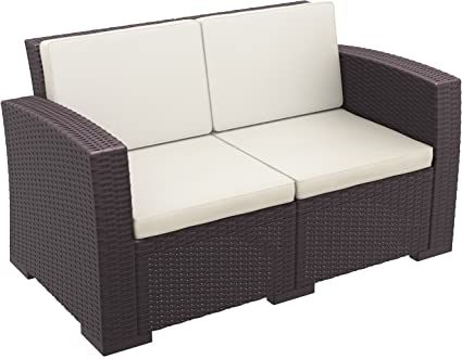 Stupendous Amazon Com Compamia Monaco Patio Loveseat With Cushions Alphanode Cool Chair Designs And Ideas Alphanodeonline