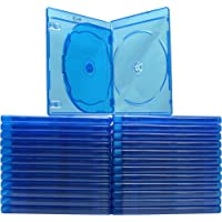 (25) Blue Blu-Ray 3 Disc Capacity DVD Boxes Cases with Screenprinted Logos - 12 mm - BR3R12BL