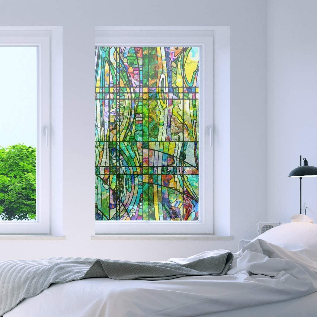 "RoyalWallSkins Non-Adhesive Decorative Privacy Window Film Static Cling 24"" x 40"" (Mersin: 24"" x 40"")"
