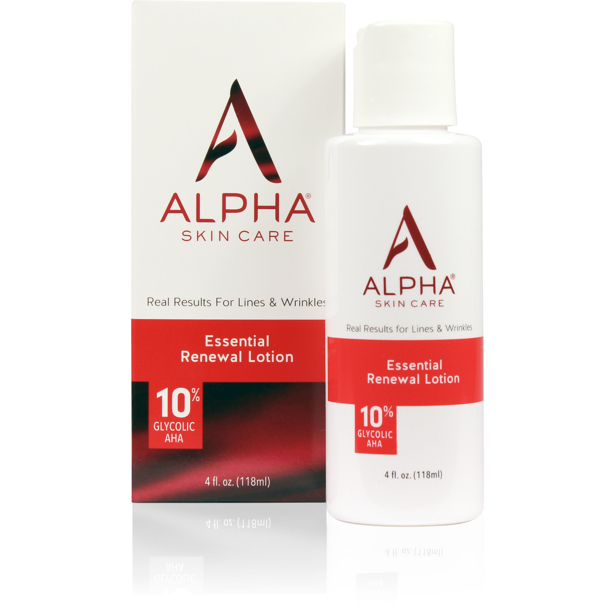 Alpha Skin Care - Essential Renewal Lotion, 10% Glycolic AHA, Real Results for Lines and Wrinkles| Fragrance-Free and Paraben-Free| 4-Ounce (Packaging May Vary)