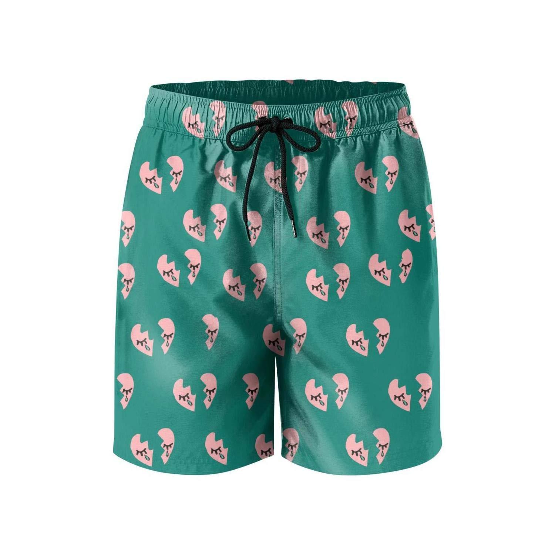 Men Core Printed Quick Dry Swimming Trunks Short-American Flag Art Style Beach Shorts