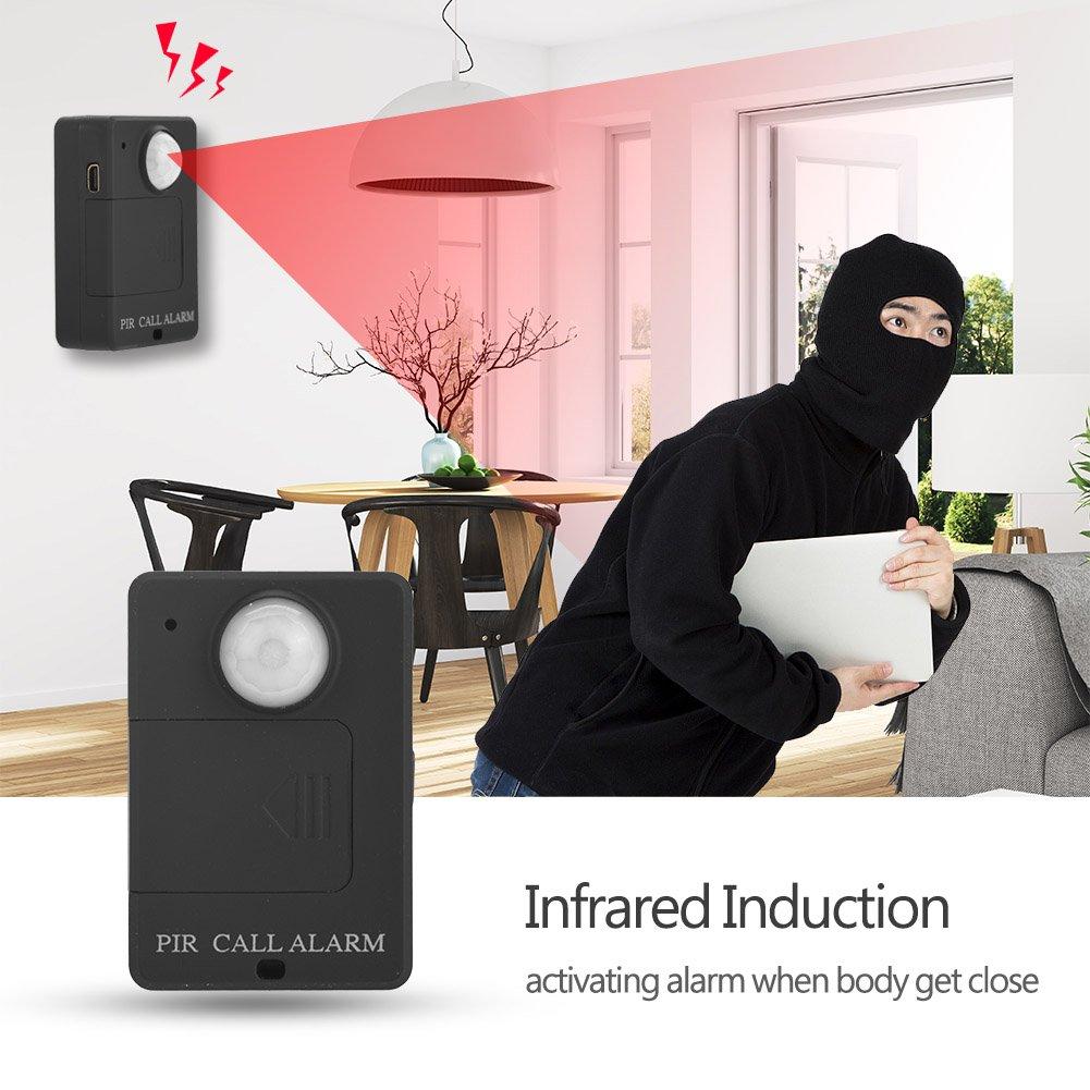 Vbestlife Alarma Seguridad gsm Casa de Puertas y Ventanas Cuerpo Inductivo Humano Alarma con Sensor de Movimiento Dispositivo de Alarma Anti - ...