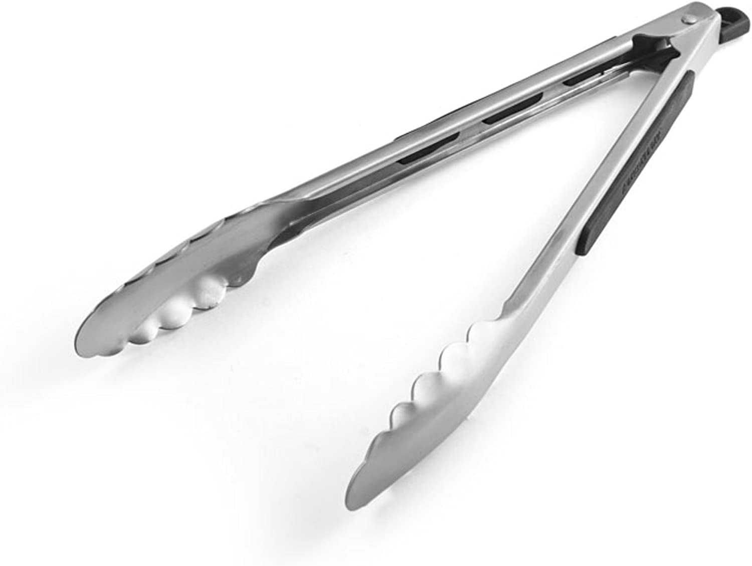 Farberware Professional Stainless Steel and Heat Resistant Nylon Locking Kitchen Tongs, 12-Inch