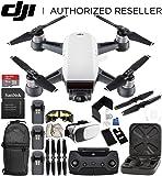 DJI Spark Portable Mini Drone Quadcopter (Alpine White) + DJI Spark Remote Controller Ultimate Bundle