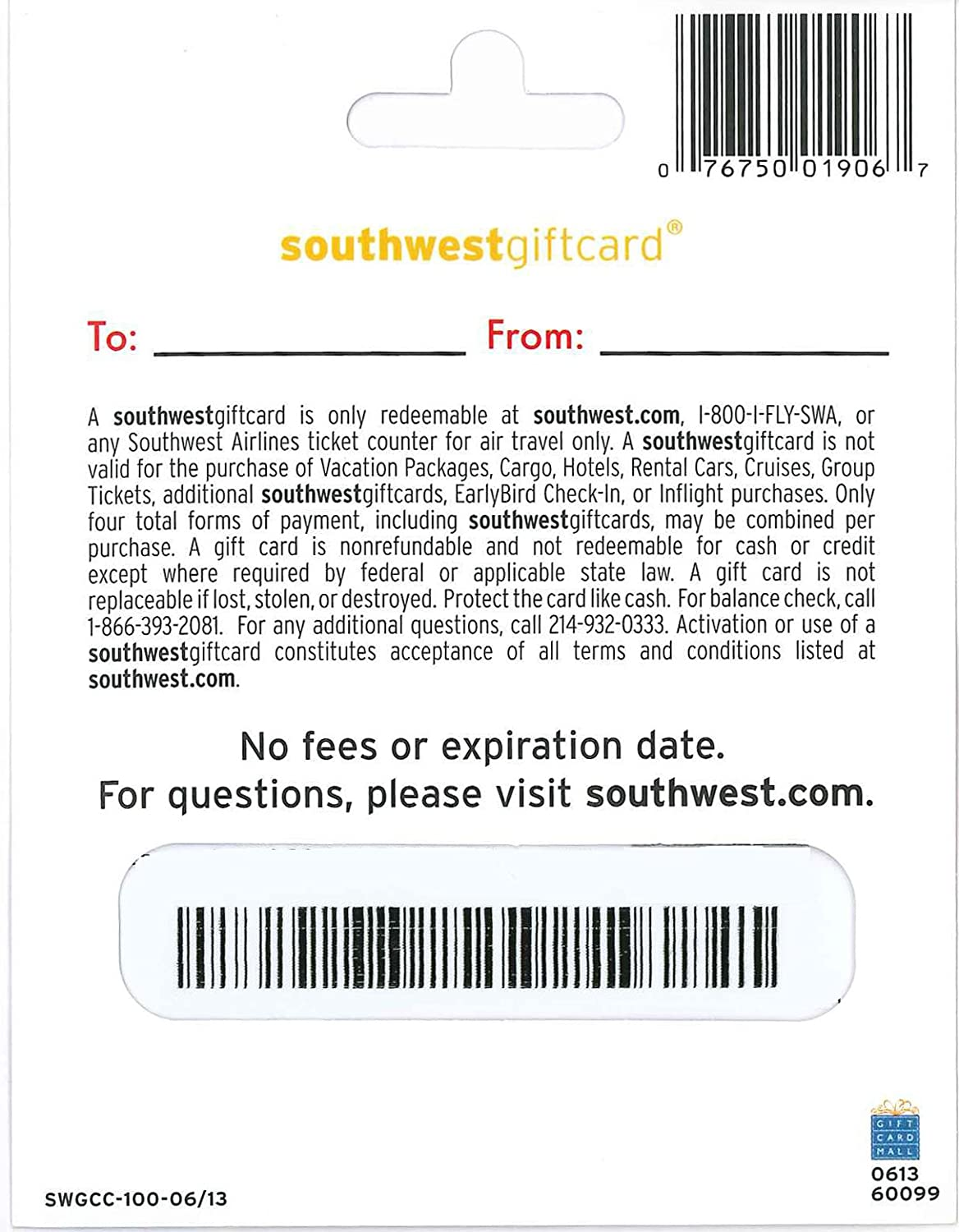 Amazon southwest airlines gift card 50 gift cards 1betcityfo Gallery
